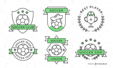 Diseño de insignias deportivas de fútbol.