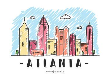 Atlanta, USA Skyline Design