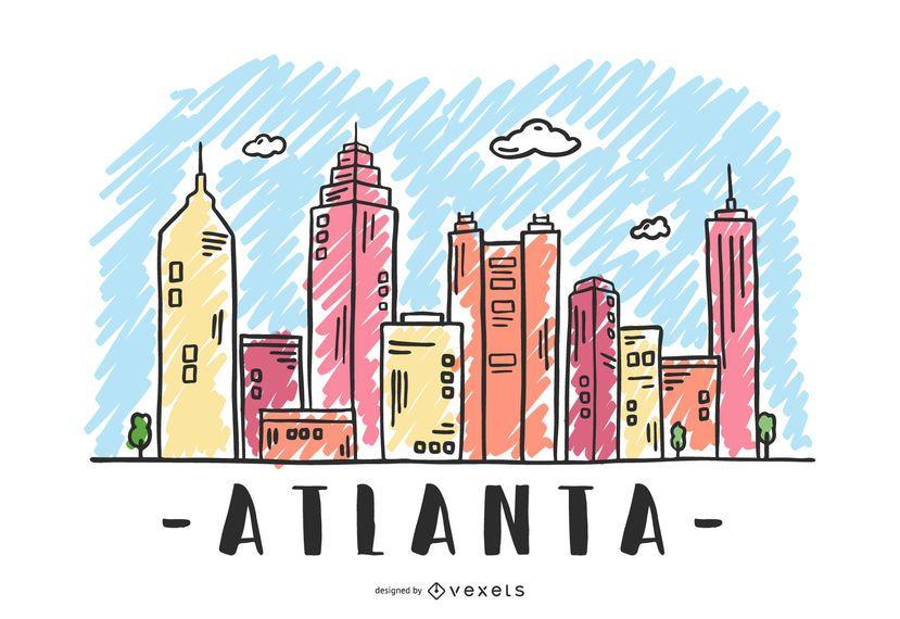 Atlanta, USA Skyline Design