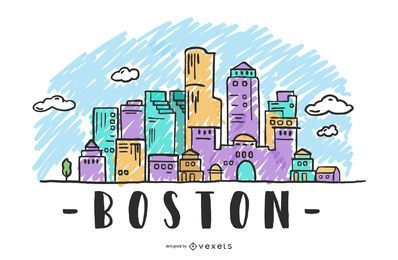 Boston USA Skyline Design