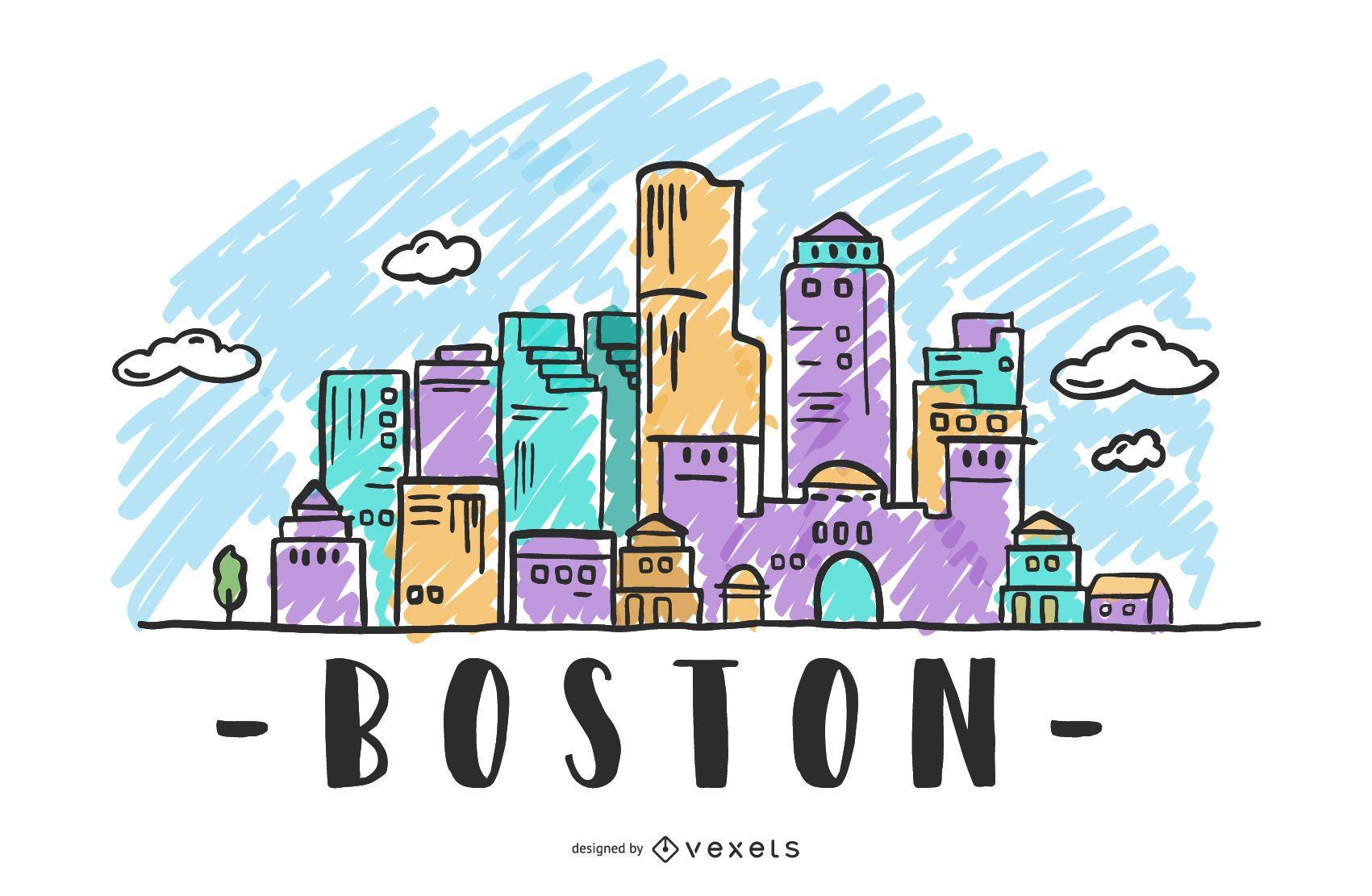 Boston USA Skyline Design