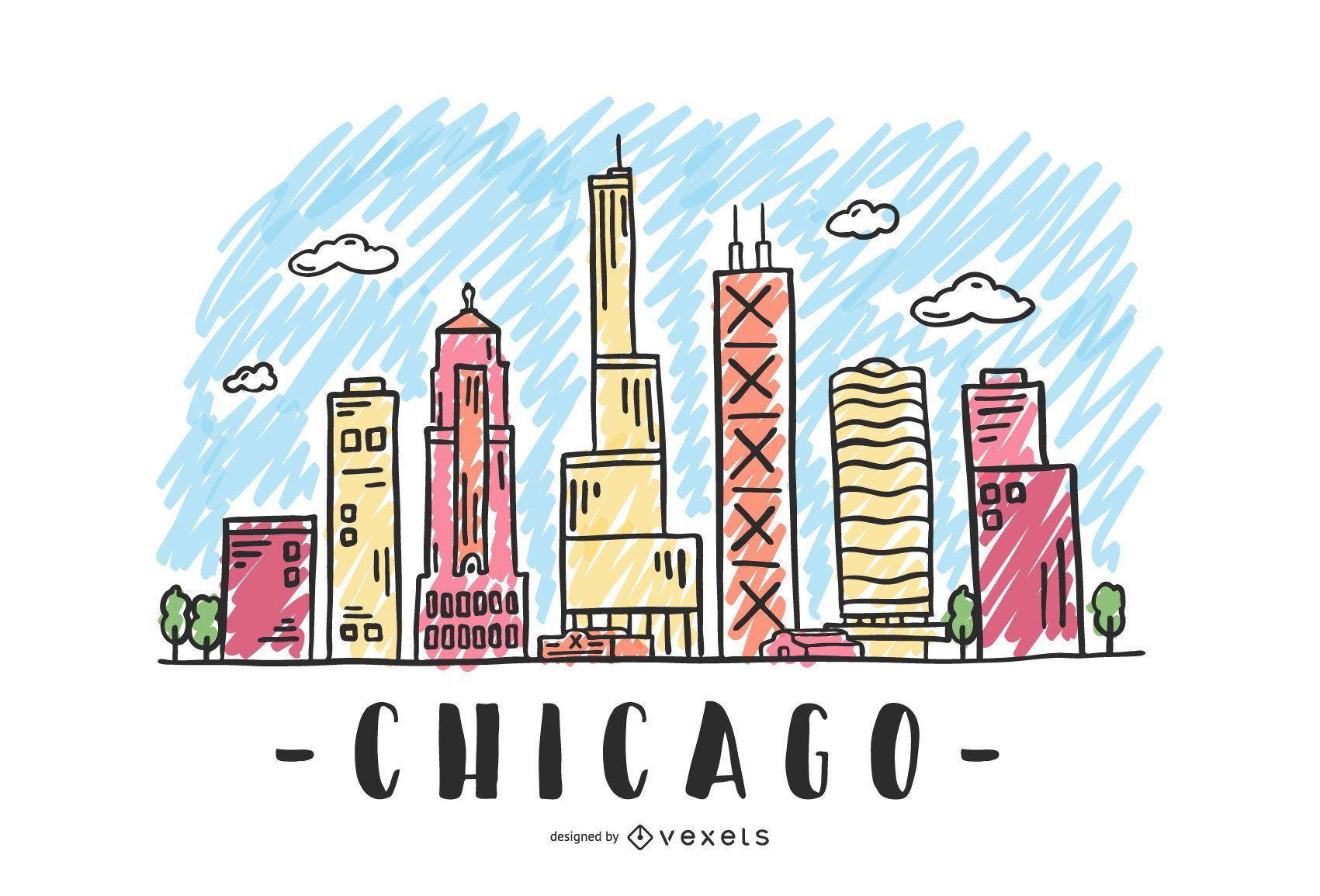 Chicago USA Skyline Design