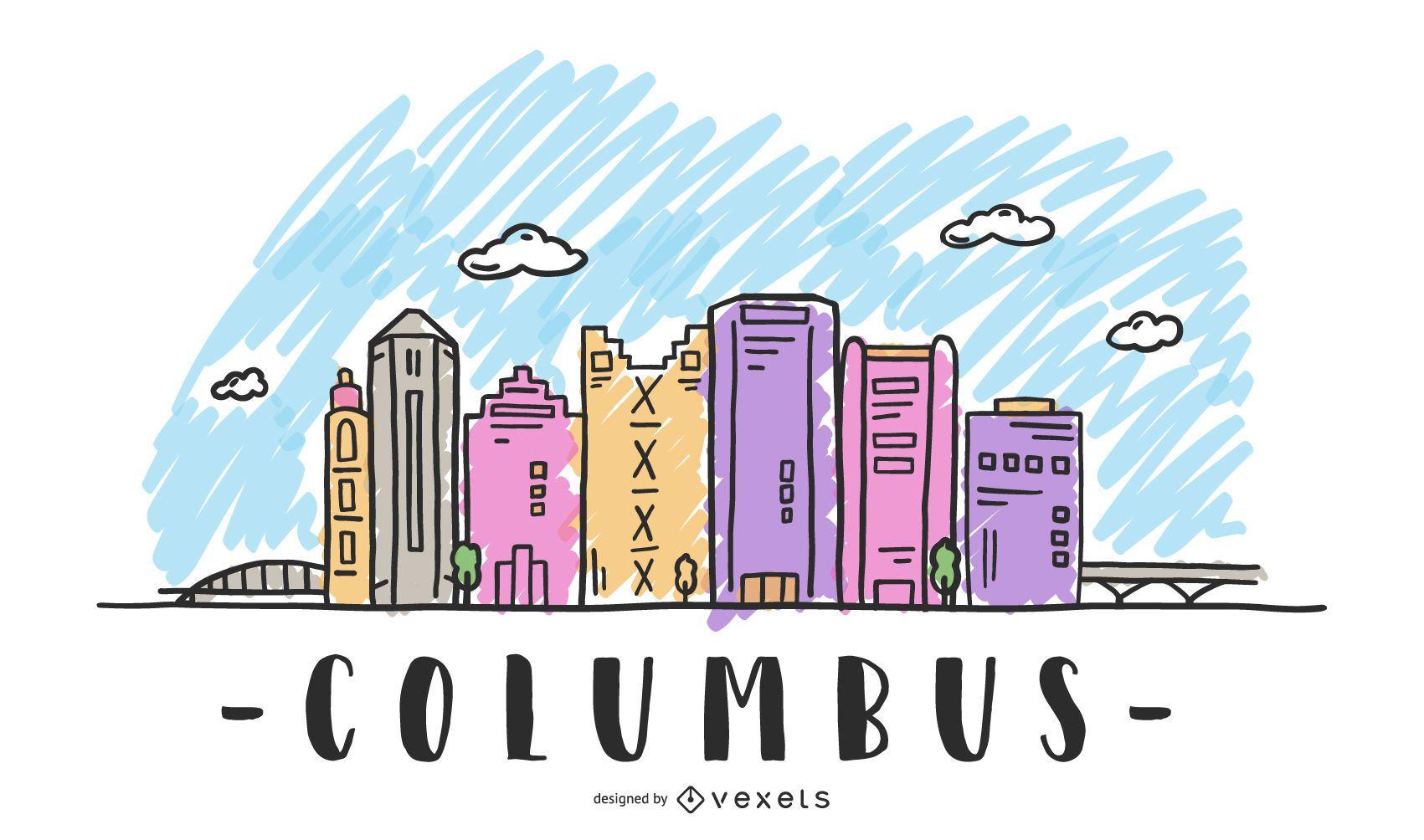 Columbus USA Skyline Design