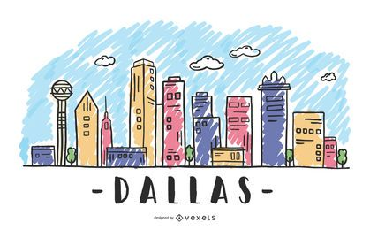 Dallas, Texas Skyline-Design