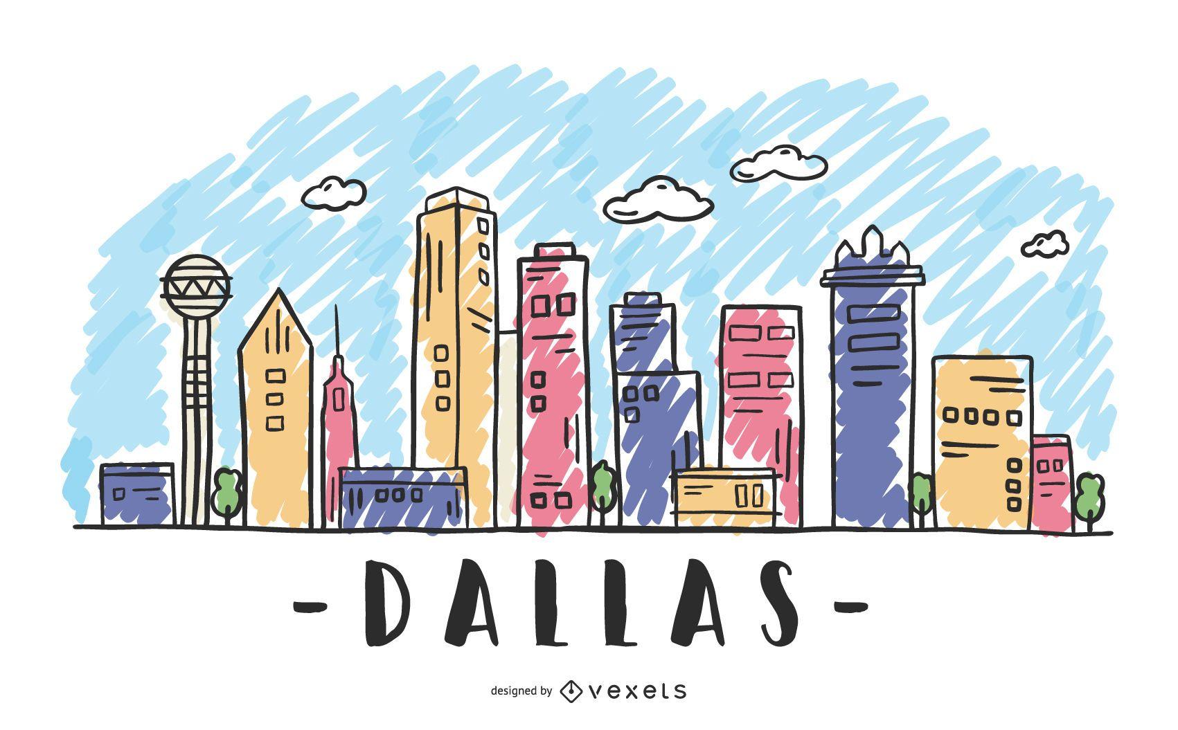 Dallas Texas Skyline Design