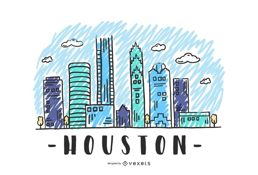 Houston, USA Skyline Design