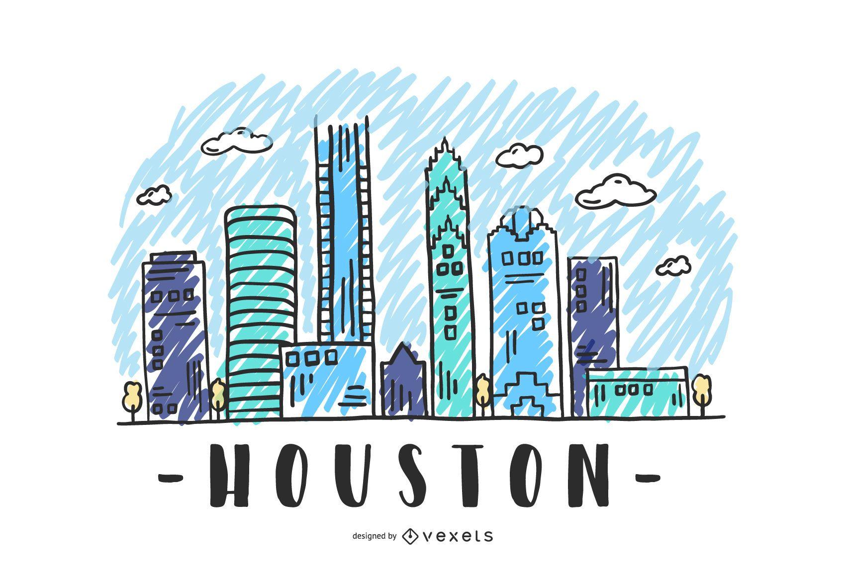 Diseño del horizonte de Houston Estados Unidos