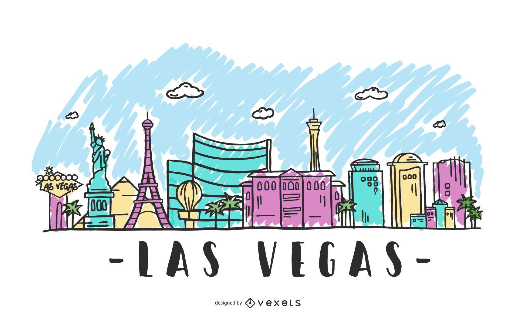 Las Vegas Skyline Illustration