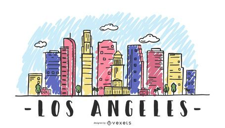 Los Angeles USA Skyline Design