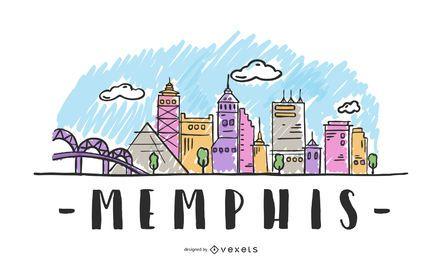 Memphis, EUA Skyline Design