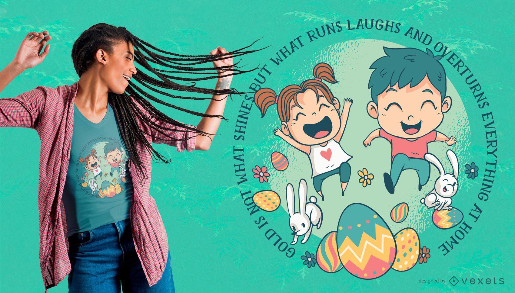 Diseño de camiseta de Pascua para niños