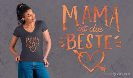 Diseño de camiseta de mamá alemana