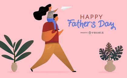 Ilustração feliz do dia dos pais