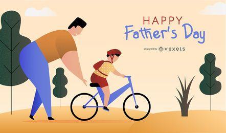 Diseño de ilustración del día del padre