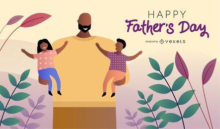 Feliz dia del padre diseño de ilustración