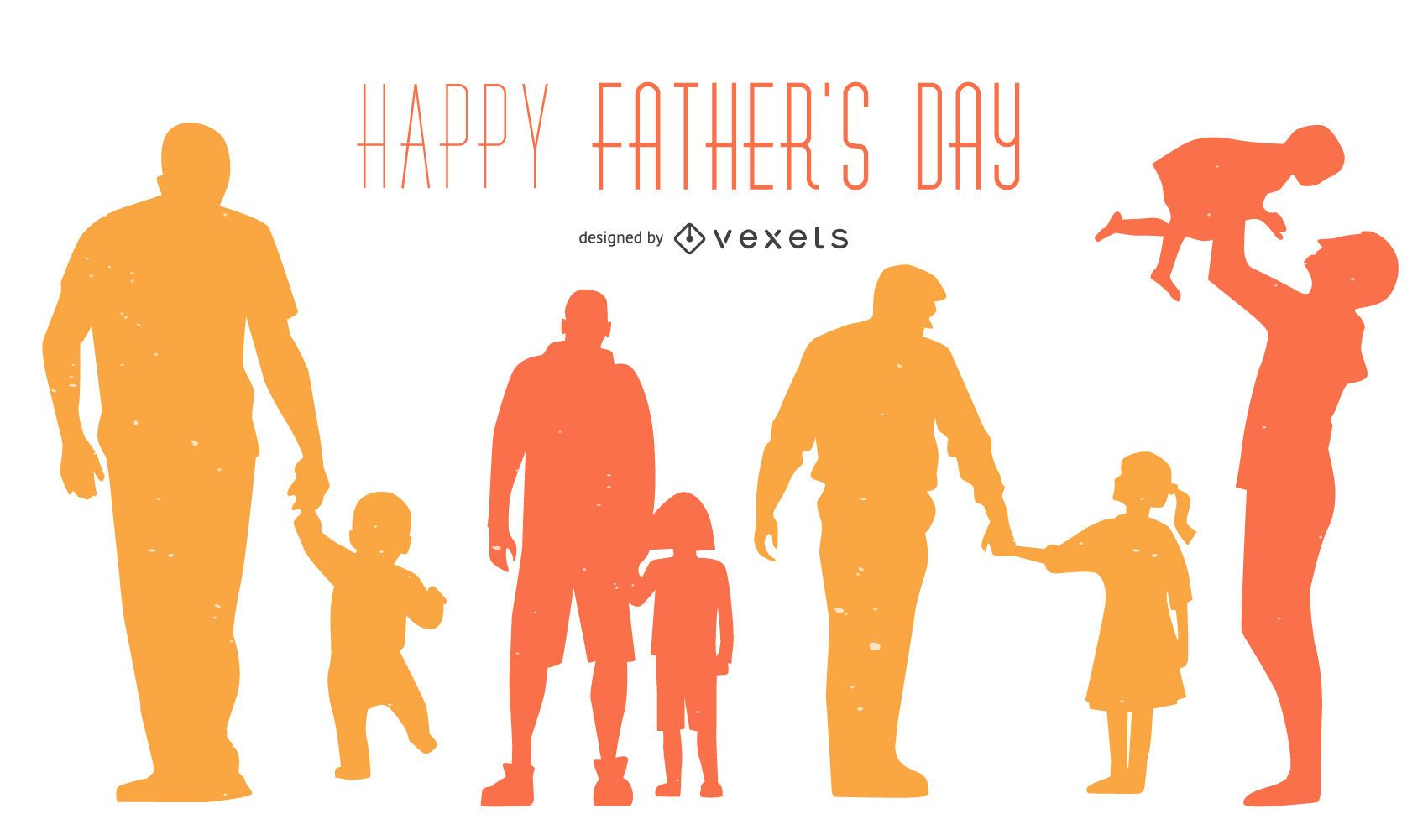 Happy Father's Day Silhouette