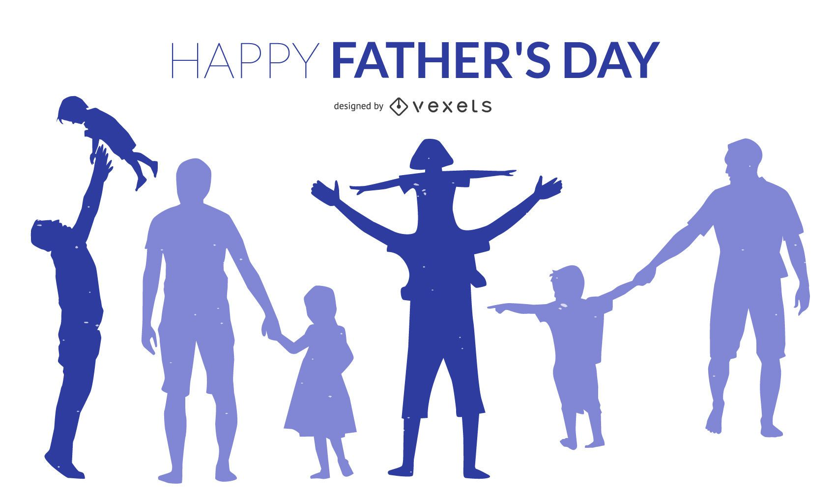 Father's Day Silhouette Design