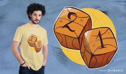 Basketball Würfel T-Shirt Design