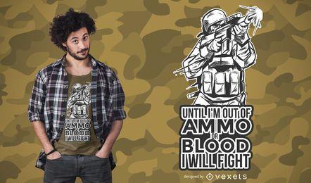 Diseño de la camiseta de la cita de la armadura