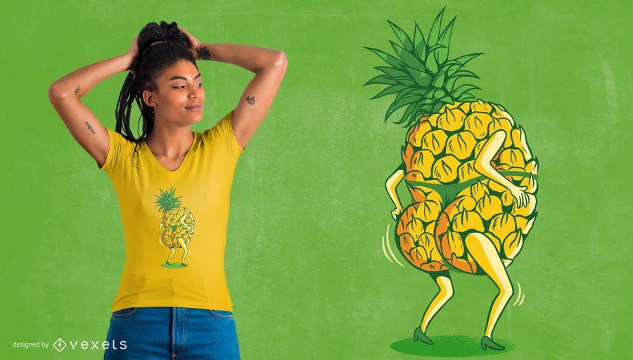 Pineapple Dancing T-Shirt Design