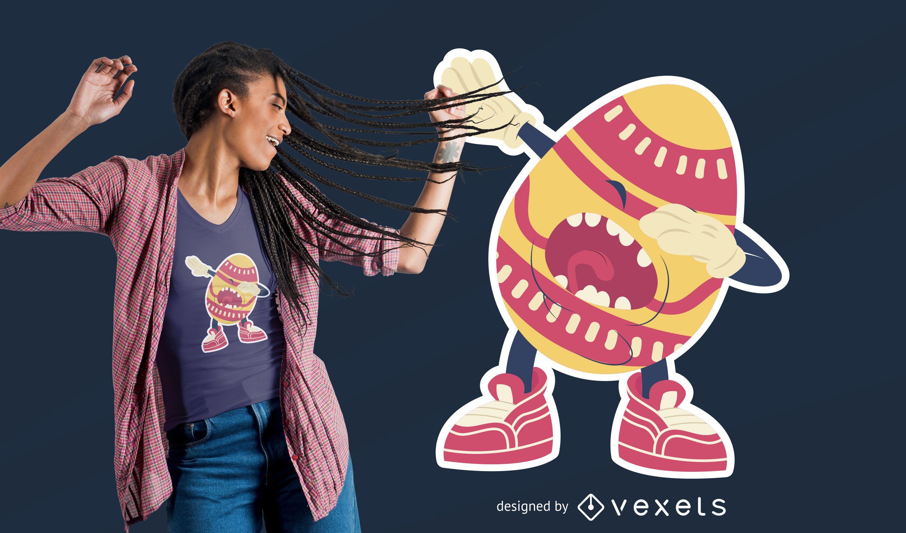 Diseño de camiseta Dabbing Egg