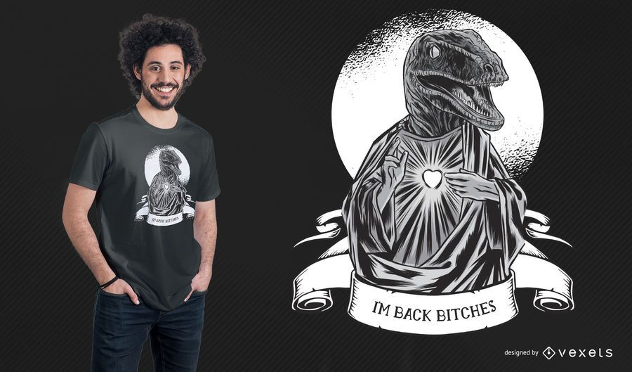 Raptor Jesus T-Shirt Design
