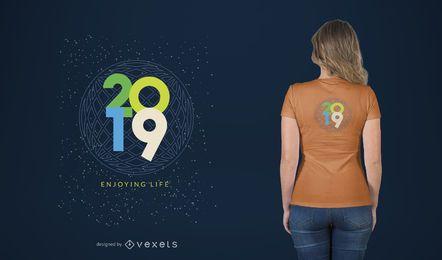 Disfrutando de la vida diseño de camiseta