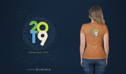 Leben-T-Shirt-Entwurf genießen
