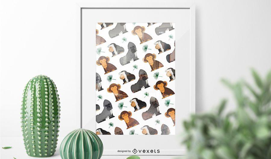 Padrão de macaco africano