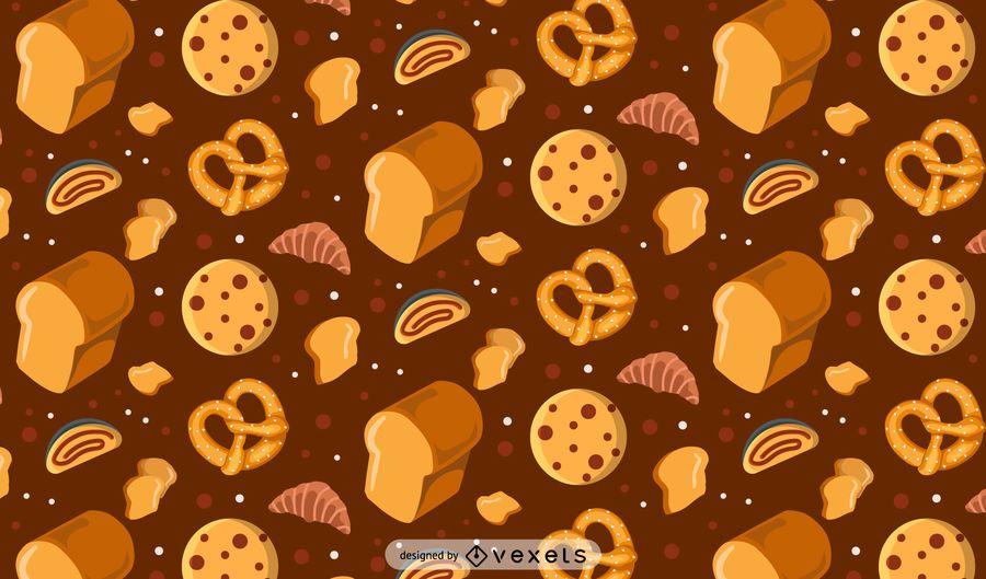 Patrón de panadería sin costura
