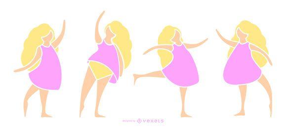 Bailarina de color silueta