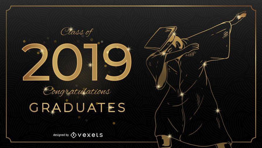 Dabbing Graduation Card