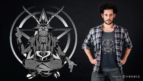 Satanisches Ziegen-T-Shirt Design