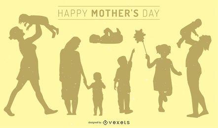 Ilustração do dia da mãe