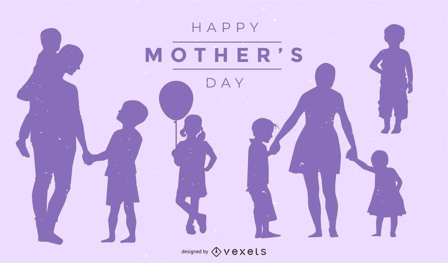 Mother's Day Silhouette Design