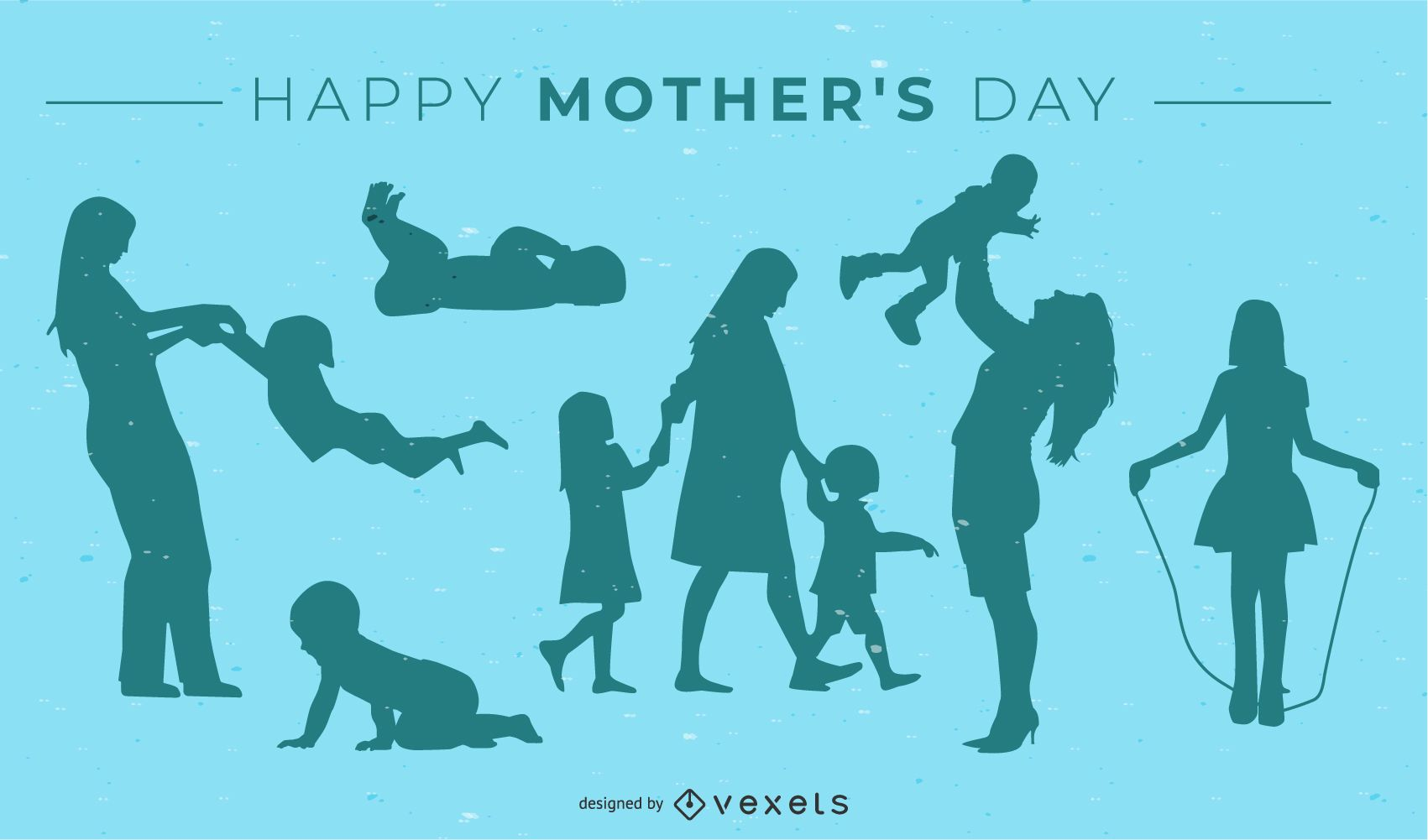 Projeto da silhueta do feliz dia das mães