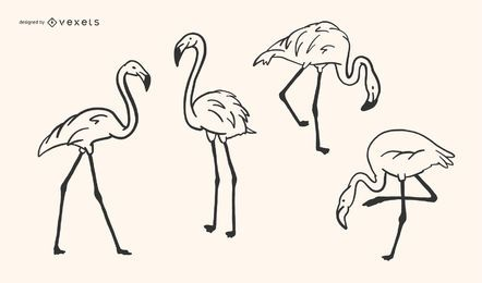 Flamingo-Gekritzel-Design