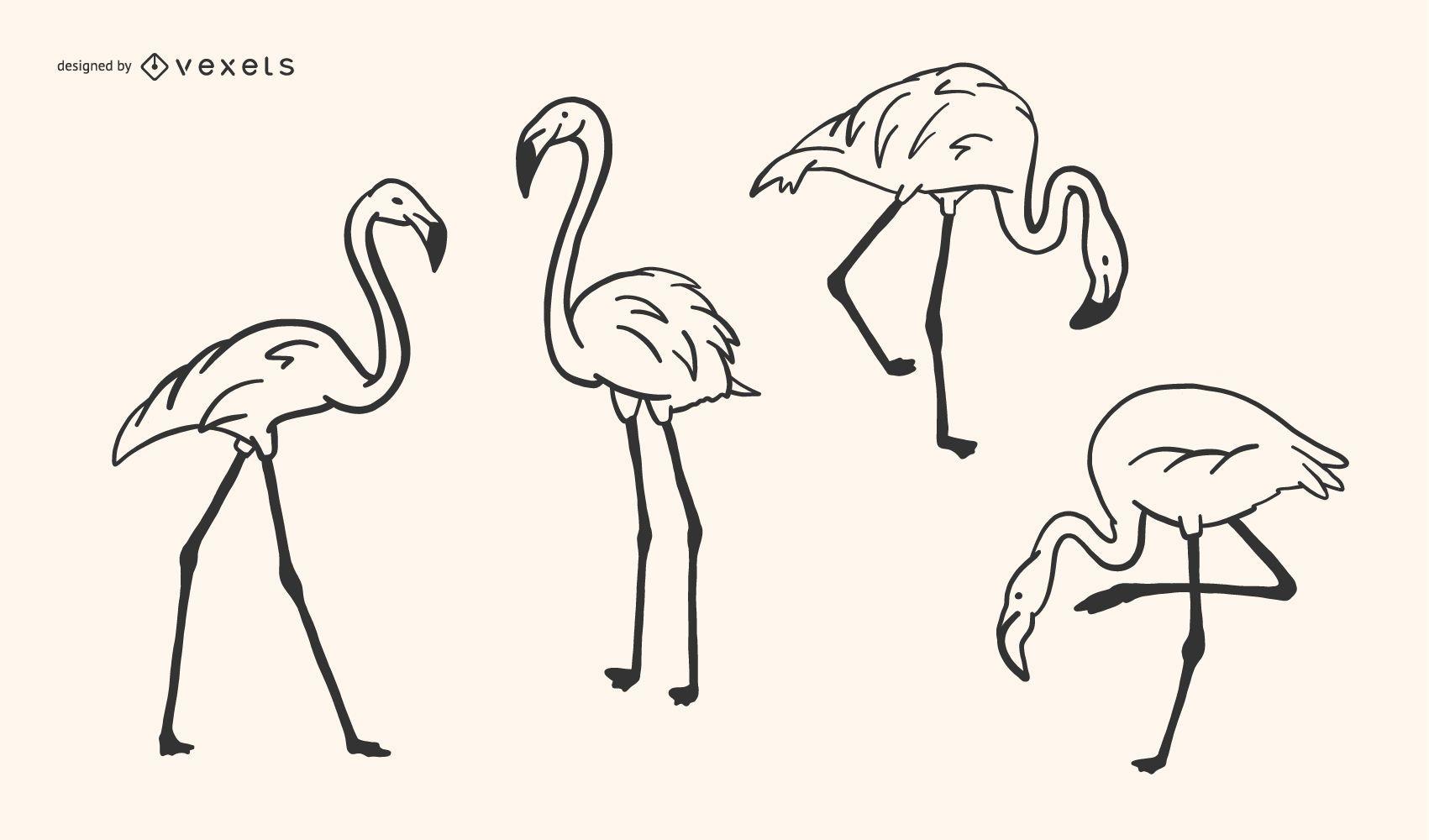Diseño Flamingo Doodle