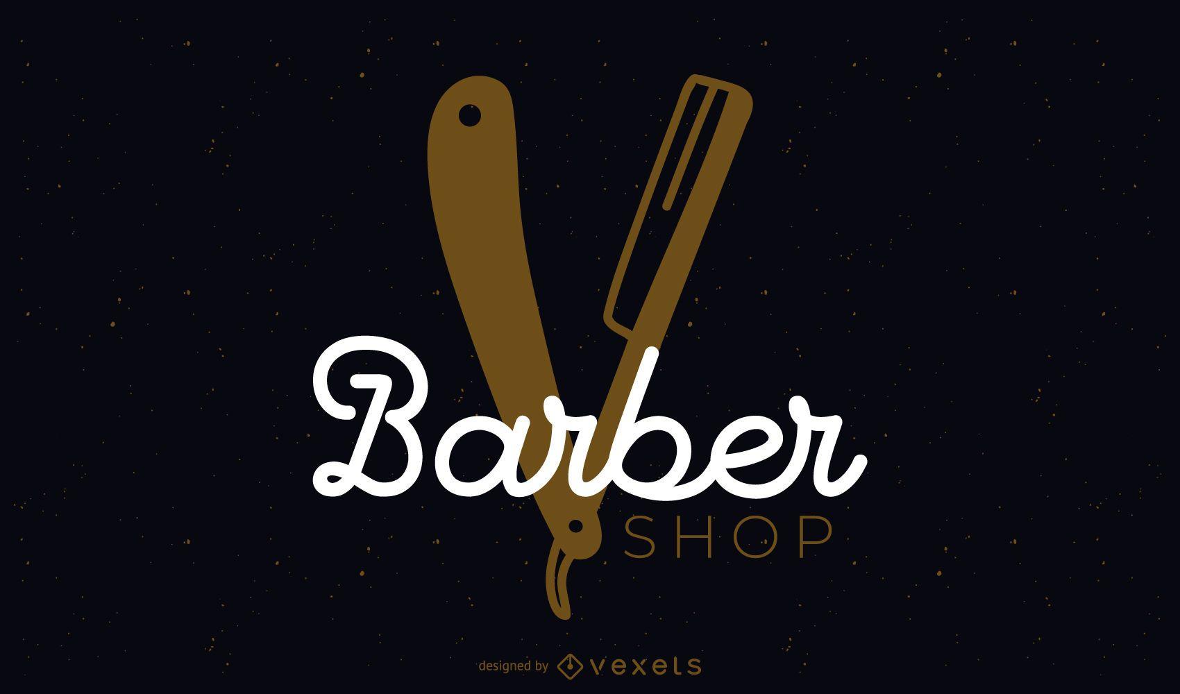 Diseño de logotipo de barbería