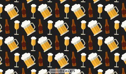 Patrón de botellas de cerveza