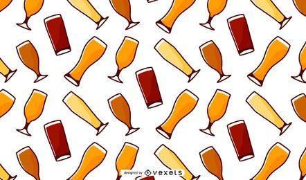 Padrão de copos de cerveja