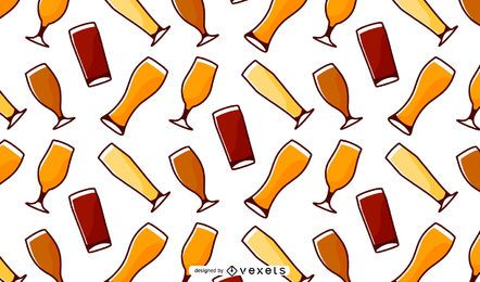 Patrón de vasos de cerveza