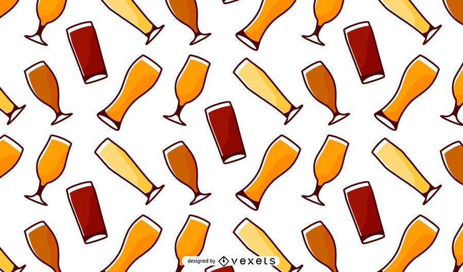 Bierglas-Muster