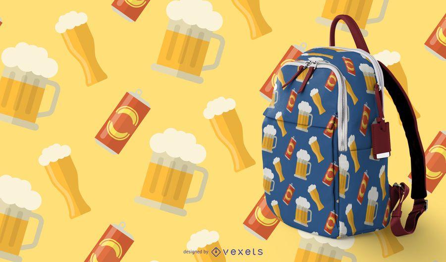 Beer Mug Seamless Pattern