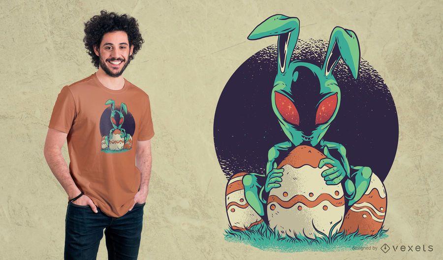 Projeto estrangeiro do t-shirt de Easter