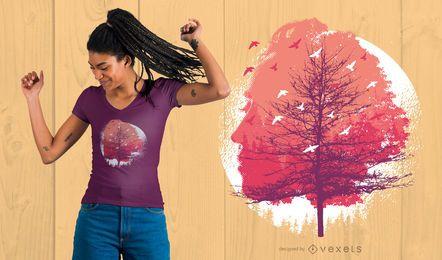Diseño de camiseta Head Tree