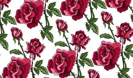 Patrón de rosas