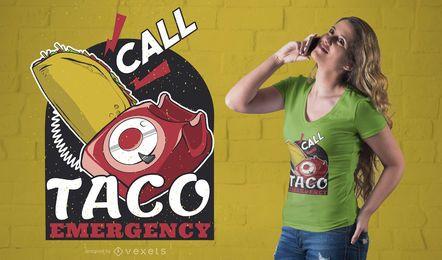 Diseño de camiseta Taco Emergency