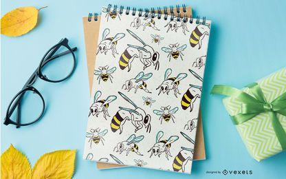 Diseño de patrón de abeja