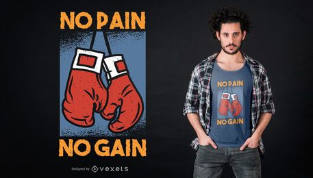 Diseño de camiseta de boxeo